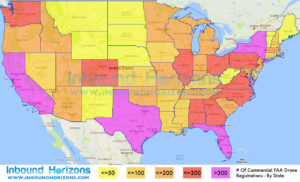 FAA Commercial Drone Registrations By State
