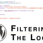 filtering and replacing wordpress loop content