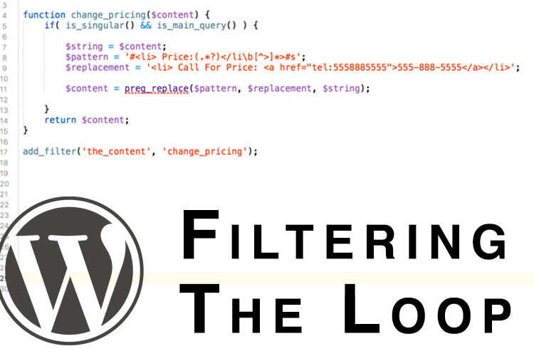 How To Filter And Replace HTML In The Wordpress Content Loop