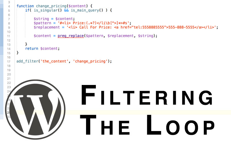 filtering and replacing wordpress loop content