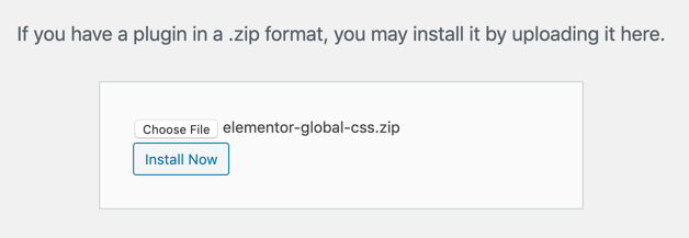 Elementor Global CSS Plugin - 1